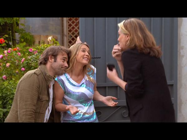 Hélène et Nico font leur annonce à Johanna