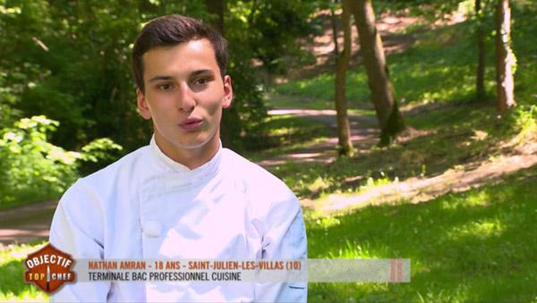Vos avis et commentaires sur Nathan Amran dans Objectif Top Chef
