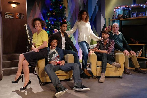 Le casting quasi complet de Plus belle la vie le prime du 20/12/2016 // Credit : © Thomas VOLLAIRE / FTV / TELFRANCE
