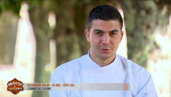 Alexandre Palau qualifié pour la demi-finale Objectif Top Chef
