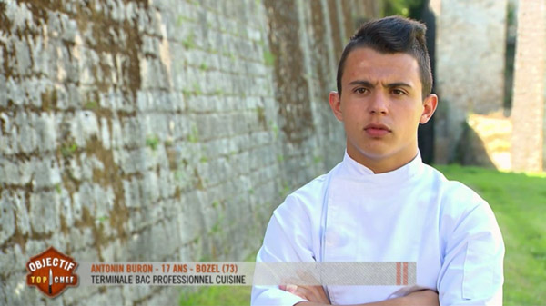 Antonin le gagnant Objectif Top Chef