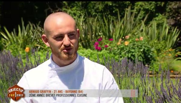 Arnaud Graffin qualifié pour Objectif Top chef