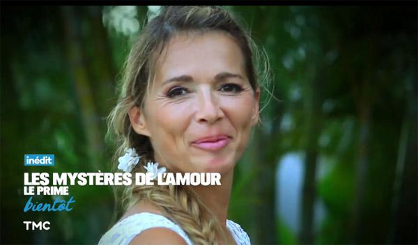 Hélène ravissante comme mariée à Love Island pour le prime les mystères de l'amour de décembre 2016