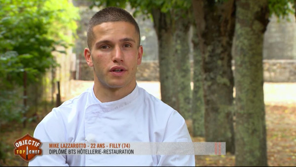 Mike Lazzarotto remporte  Objectif Top chef face à Lin et Sebastien