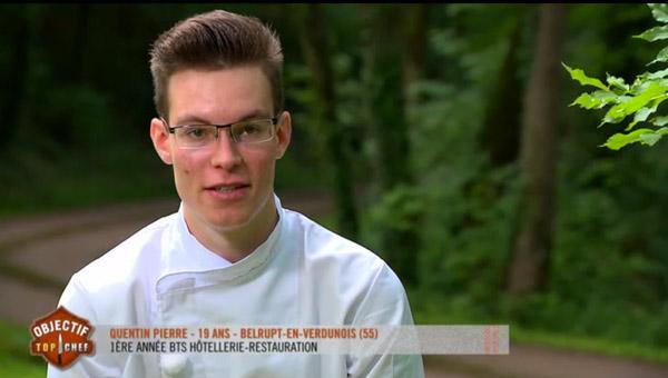 Quentin Pierre dans Objectif Top Chef : il continue l'aventure.