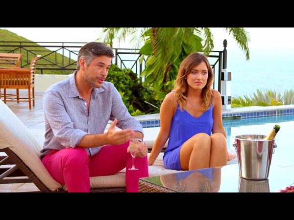 Ricky et Fanny en pleine discussion avec Laly et Christian