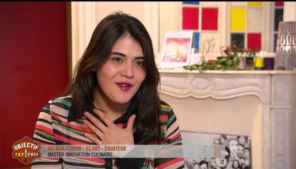 Natalia Ferrin  gagnante Objectif Top Chef
