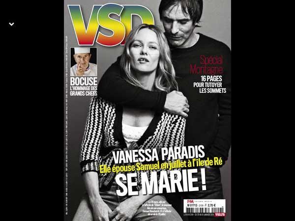 Vanessa Paradis le mariage en 2018 avec Samuel Benchetrit  le couple  heureux a décidé de concrétiser leur amour en juillet prochain.