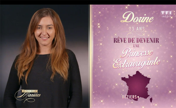 Dorine mariée TF1
