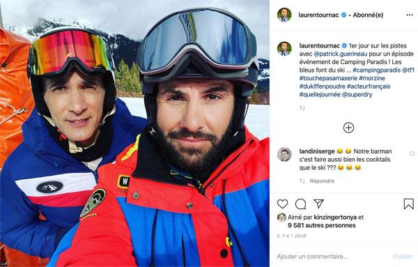 Patrick Guérineau au ski pour Camping Paradis