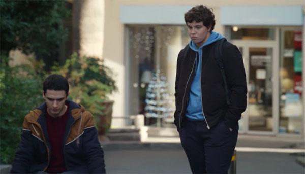 Antonin avec son ami Arthur