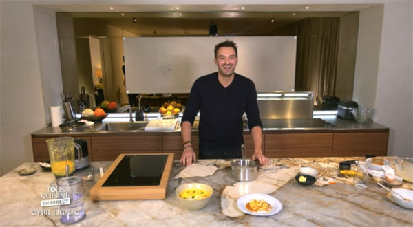 Cyril Lignac en cuisine