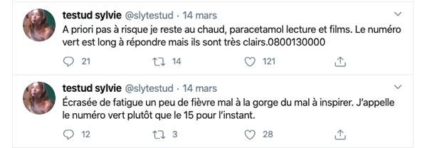 Sylvie Testud et covid 19