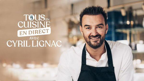 Cyril Lignac en direct avec Tous en cuisine