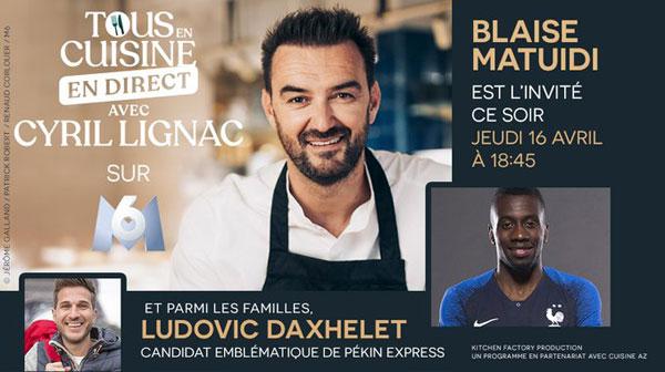 Cyril Lignac sur M6 avec Tous en cuisine