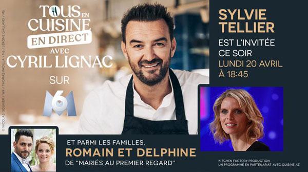 Les invités people de Tous en cuisine en direct avec Lignac