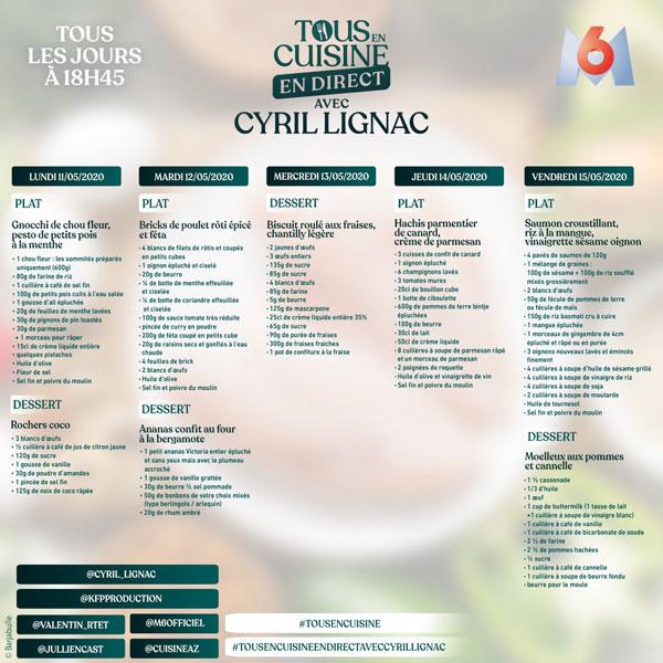 Tous en cuisine de Cyril Lignac