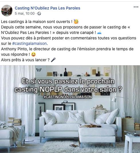 casting NOPLP France 2